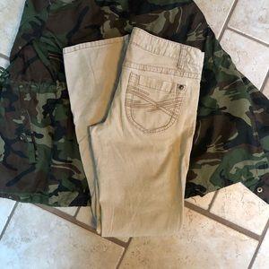 Women's aero corduroy khaki pants